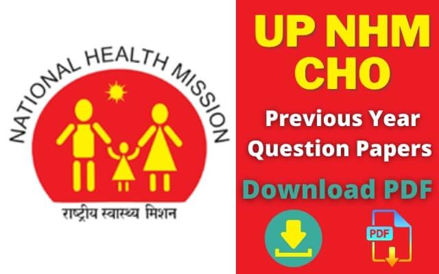 NHM UP CHO Previous Year Paper in Hindi & English